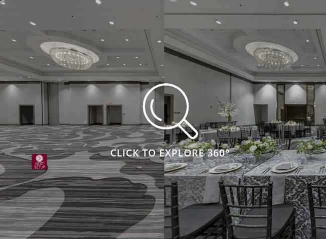 Marriott Omaha Downtown Capitol District Ballroom Wedding Setup - Click to View