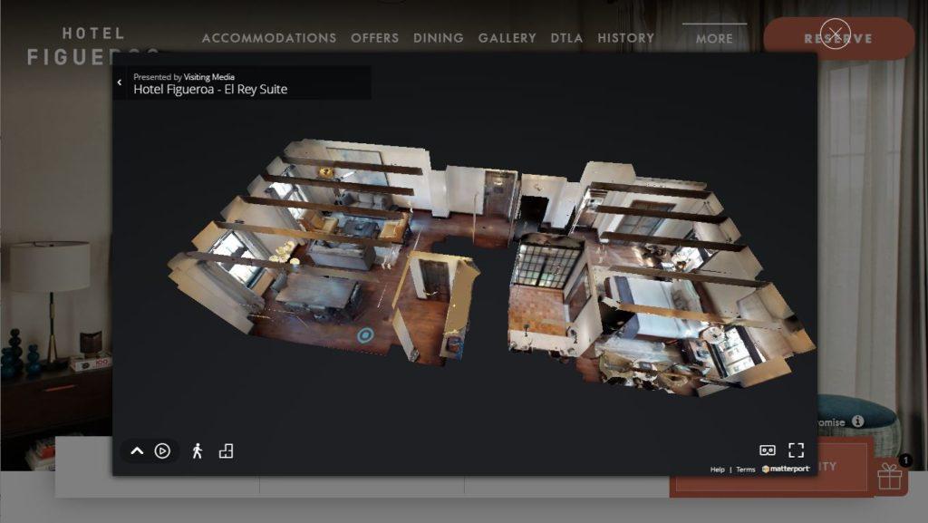 What a viewer would see using TrueTour versus no visual platform
