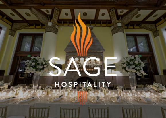 Sage Logo over Image