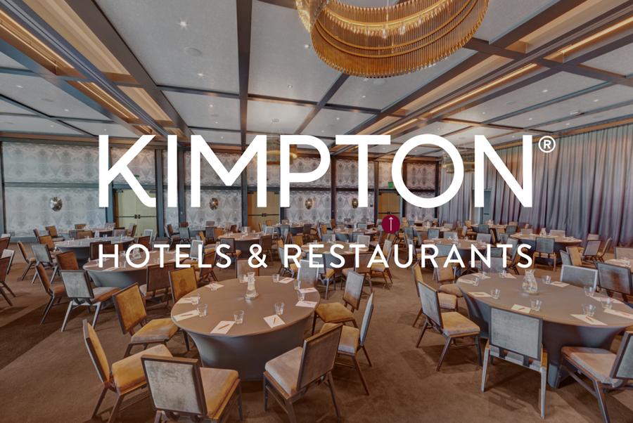 Kimpton Logo Over Ballroom Image